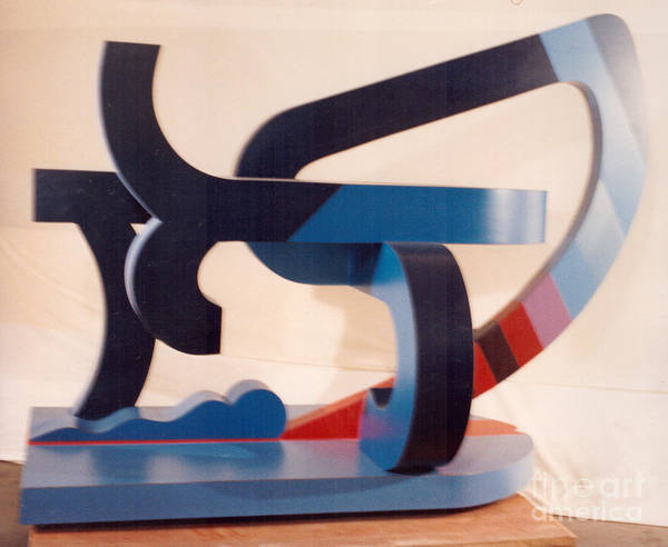 Sculpture - Kickout by Robert F Battles