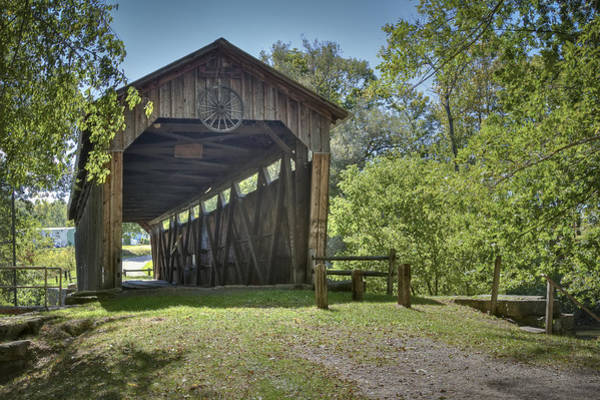 Photograph - Kidd's Mill Covered Bridge by Jack R Perry