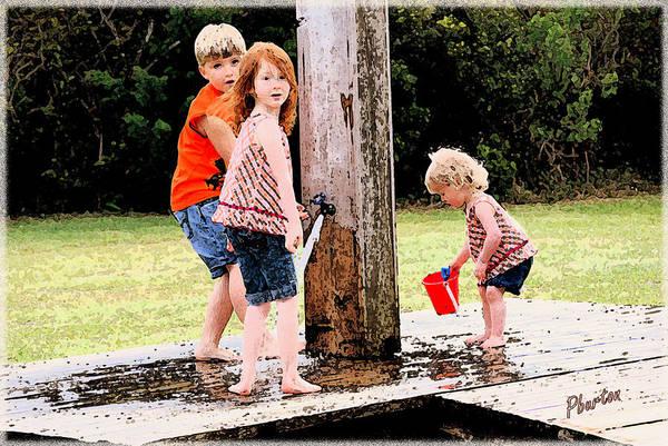 Photograph - Kids Fresco by Phil Burton