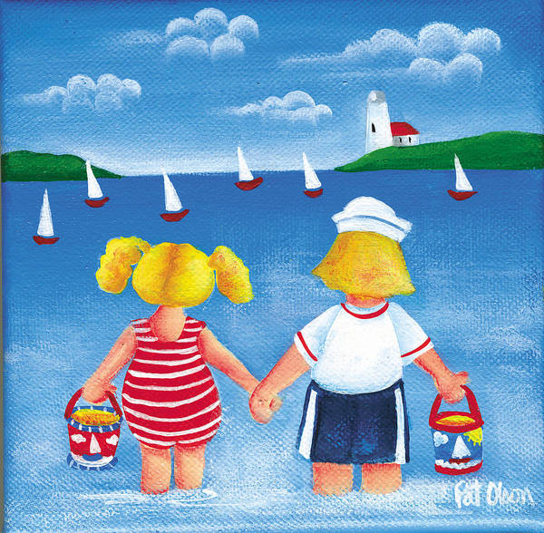 Painting - Kids In Door County by Pat Olson
