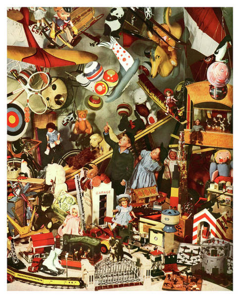 Toy Mixed Media - Kids In Toy Shop  by Long Shot