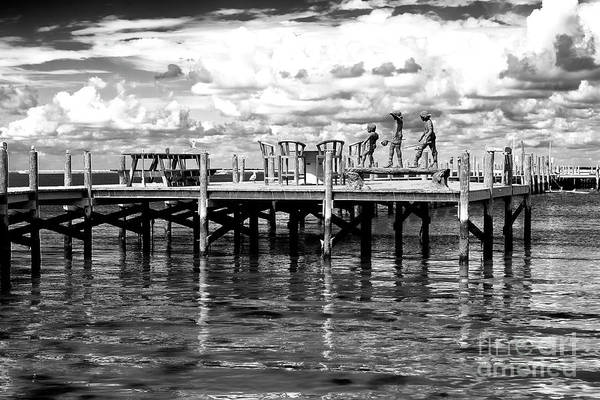 Photograph - Kids On The Dock At Long Beach Island by John Rizzuto