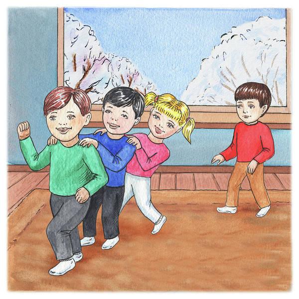 Painting - Kids Playing Choo Choo Train by Irina Sztukowski