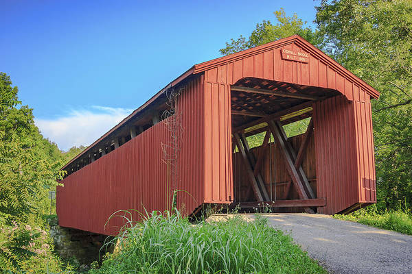 Photograph - Kidwell Covered Bridge by Jack R Perry