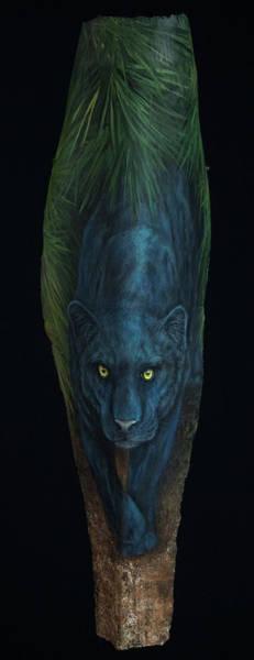 Painting - Kiera  Black Jaguar by Nancy Lauby