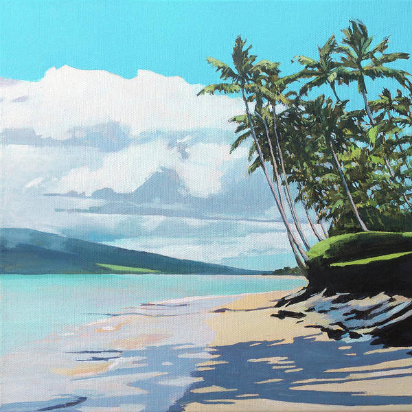 Wall Art - Painting - Kihei Beach Palm Trees by Stacy Vosberg