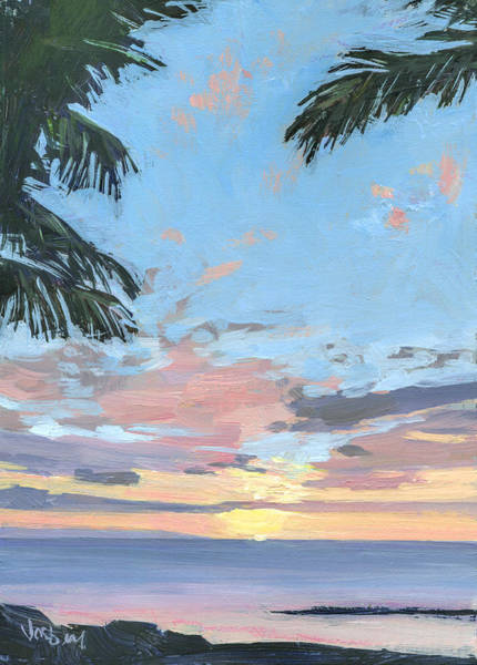 Wall Art - Painting - Kihei Sunset by Stacy Vosberg