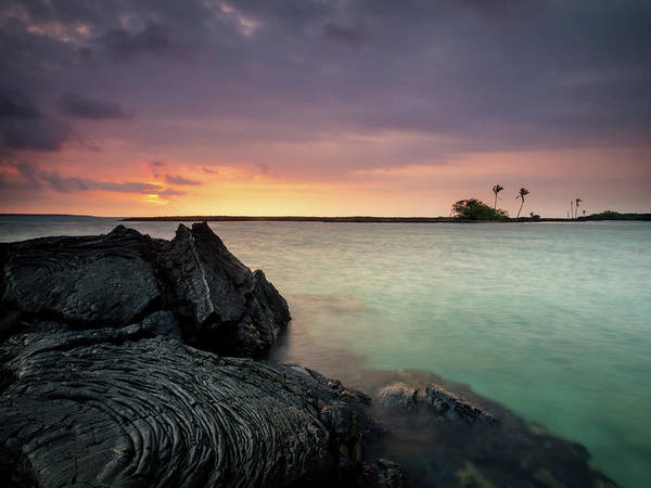 Photograph - Kiholo Bay Sunset by Christopher Johnson