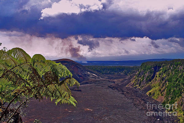 Photograph - Kilauea Iki Caldera by Bette Phelan