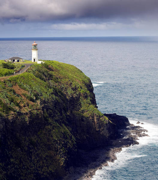 Hawaii Wall Art - Photograph - Kilauea Lighthouse On Kauai Hawaii by Brendan Reals