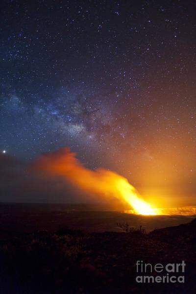Photograph - Kilauea Volcano At Night by Charmian Vistaunet