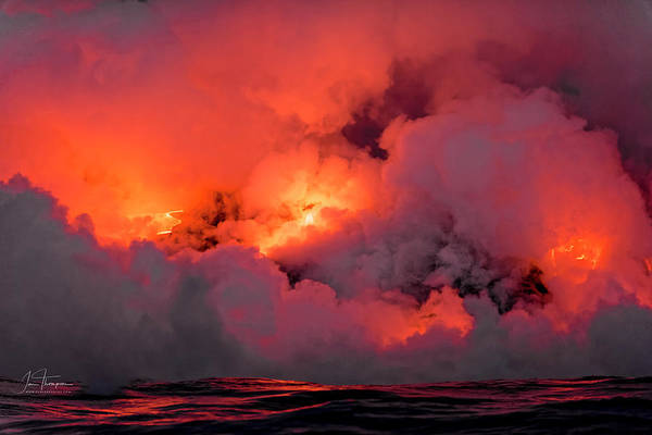 Photograph - Lava Flowing Into The Ocean 3 by Jim Thompson