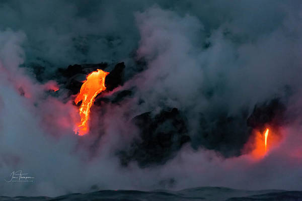 Photograph - Lava Flowing Into The Ocean 4 by Jim Thompson