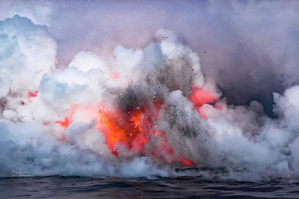 Photograph - Lava Flowing Into The Ocean 6 by Jim Thompson