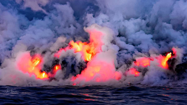Photograph - Lava Flowing Into The Ocean 7 by Jim Thompson