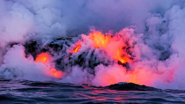 Photograph - Lava Flowing Into The Ocean 9 by Jim Thompson