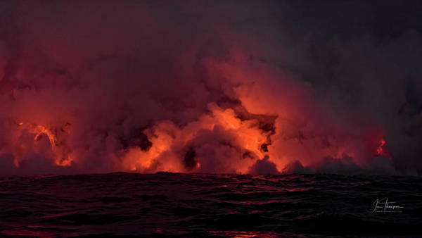 Photograph - Lava Flowing Into The Ocean by Jim Thompson