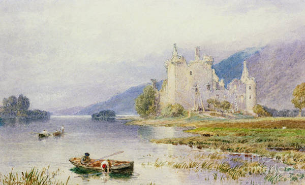 Wall Art - Painting - Kilchurn Castle by Myles Birket Foster