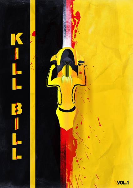 Digital Art - Kill Bill Minimalistic Alternative Movie Poster by IamLoudness Studio