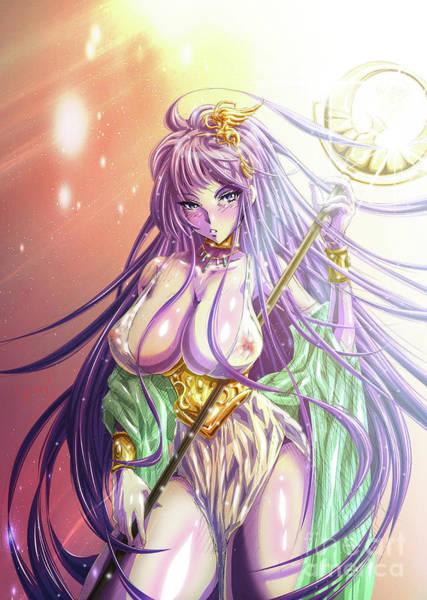 Cosmos Drawing - Killa Queens IIi - Athena Of Saint Seiya by Tuan HollaBack
