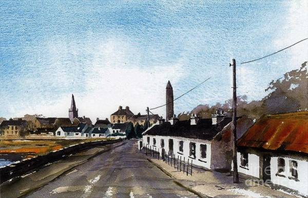 Painting - Killala Village Mayo by Val Byrne