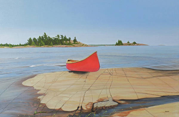 Painting - Killarney Canoe by Kenneth M Kirsch