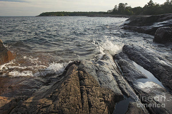 Photograph - Killarney Shore Splash-4379 by Steve Somerville