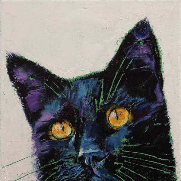 Crazy Cat Painting - Killer by Michael Creese