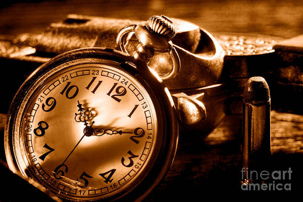 Wall Art - Photograph - Killer Time - Sepia by Olivier Le Queinec