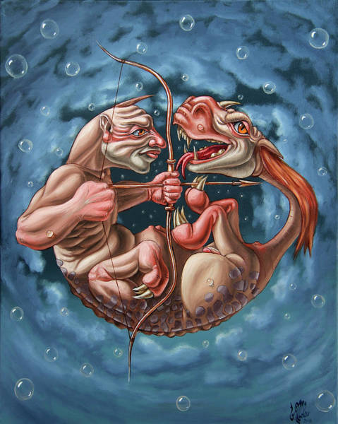 Painting - Killing The Dragon In Itself by Victor Molev