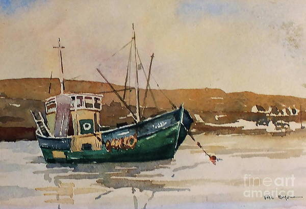 Painting - Killybegs Bay, Donegal by Val Byrne