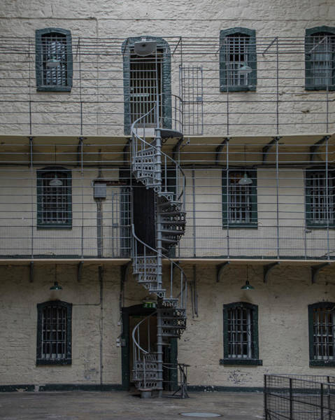 Photograph - Kilmainham Gaol Spiral Stairs by Teresa Wilson