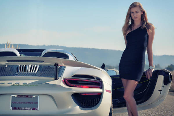 Photograph - #kim And #porsche #918spyder by ItzKirb Photography