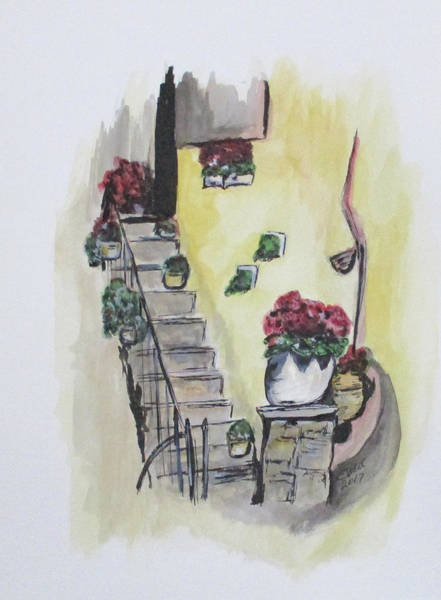 Painting - Kimberly's Castellabate Flowers by Clyde J Kell