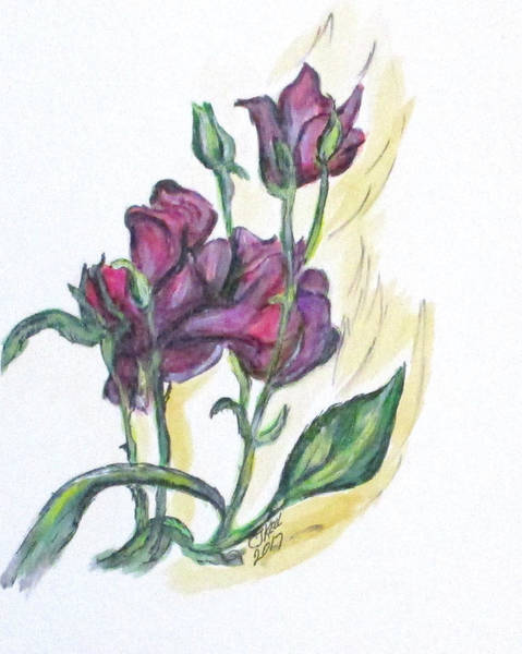 Painting - Kimberly's Spring Flower by Clyde J Kell