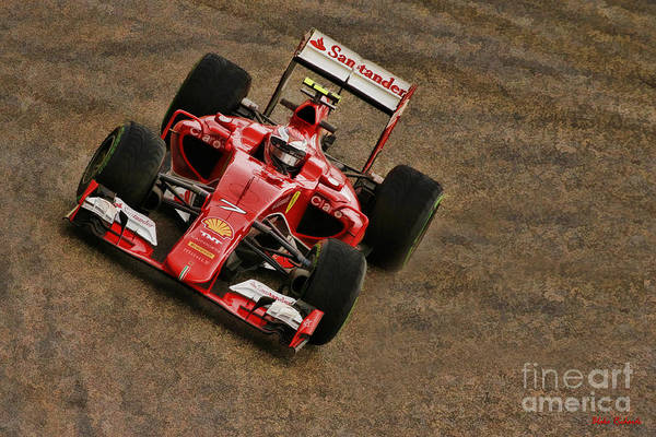 Photograph - Kimi Raikkonen 2015 Ferrari by Blake Richards