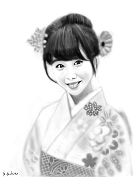 Painting - Kimono Girl No.13 by Yoshiyuki Uchida
