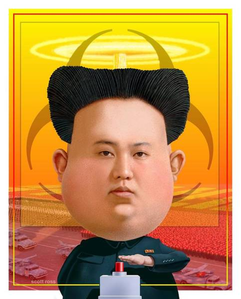 Digital Art - Kim Jong Un 2016 by Scott Ross