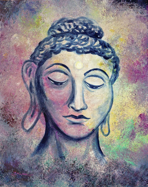 Zen Buddhism Painting - Kind Buddha by Laura Iverson