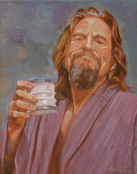 The Big Lebowski Painting - Kinda Early For Coffee by Shawn Shea