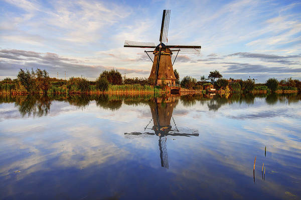 Windmills Photograph - Kinderdijk by Chad Dutson
