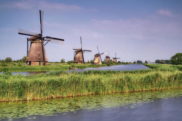 Photograph - Kinderdijk Windmills 1 by Framing Places