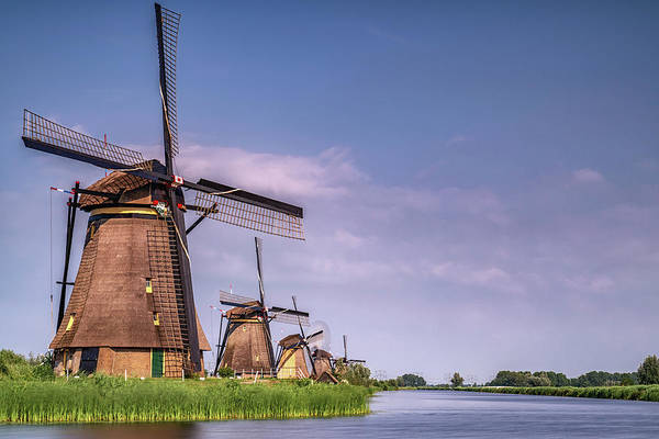 Photograph - Kinderdijk Windmills 3 by Framing Places