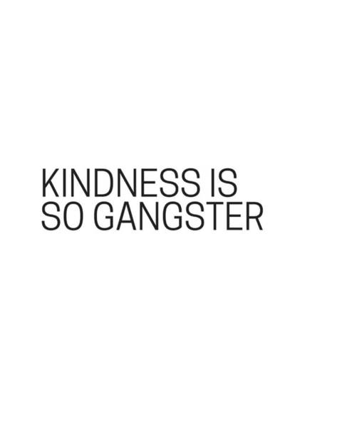 Photograph - Kindness Is So Gangster #humor #minimalism by Andrea Anderegg