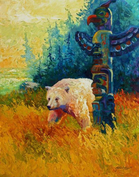 Wall Art - Painting - Kindred Spirits - Kermode Spirit Bear by Marion Rose