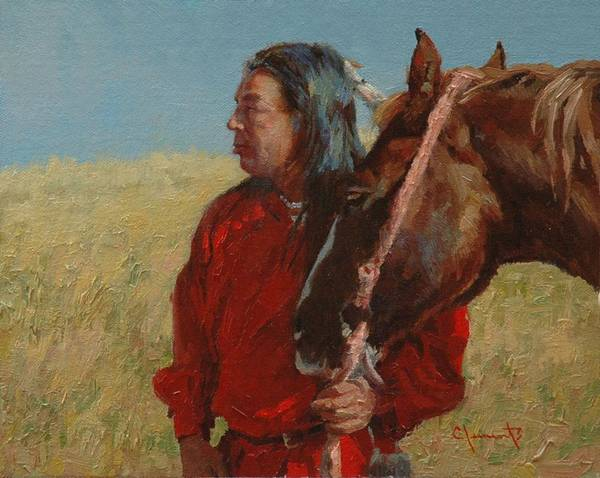 Lakota Painting - Kindred Spirits II by Jim Clements