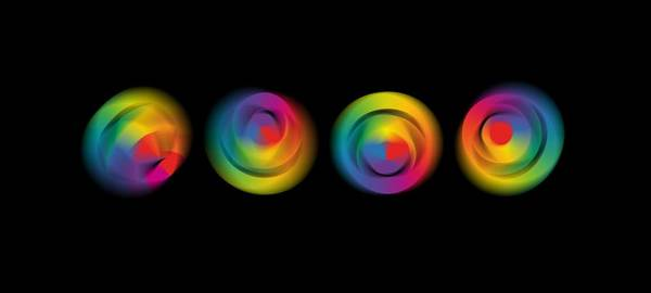 Complementary Colours Photograph - Kinetic Colour Wheels by Mal Bray