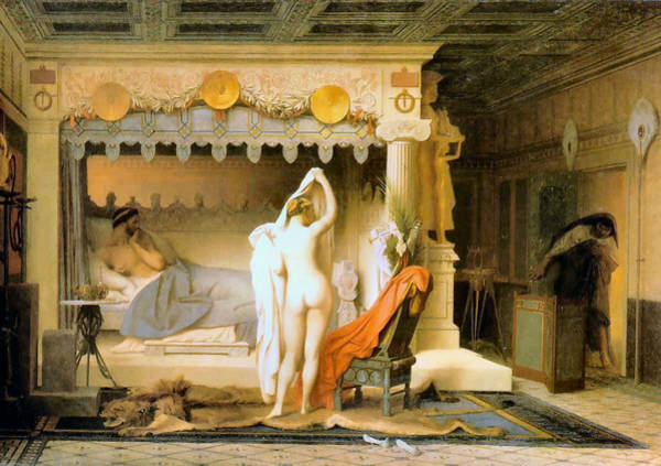 Painting - King Candaules 1859 by Jean Leon Gerome 1824-1904 Joy of Life Art Gallery
