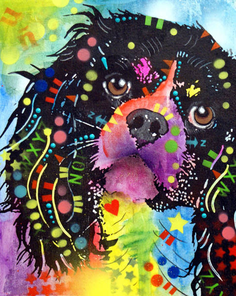 Canine Painting - King Charles Spaniel by Dean Russo Art