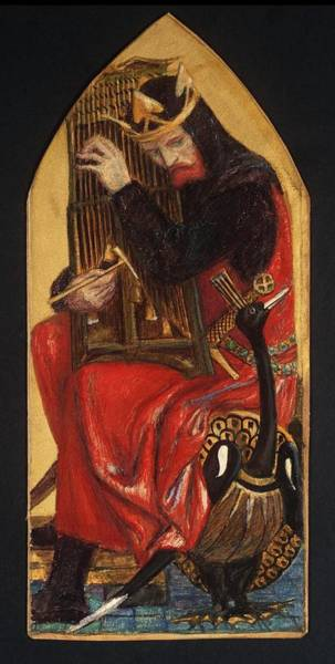 Gabriel Painting - King David From The Seed Of David by Dante Gabriel Rossetti